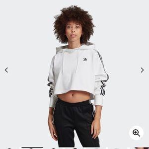 NWOT Adidas cropped hoodie